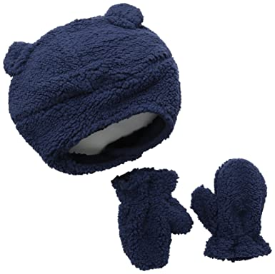 Amazon.com  Carters Baby Boys  Velboa Winter Hat Sets 60a56825be9