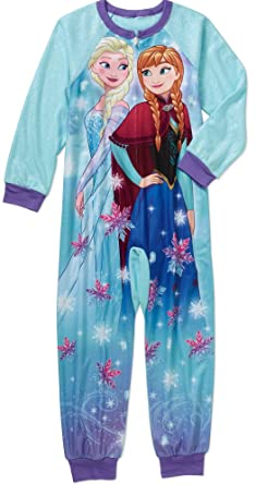 bc18e2478e Amazon.com  Disney Frozen Princess Elsa   Anna Girls Blanket Sleeper ...