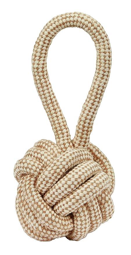 Pelota con cuerda M Ø 8 x 21 cm yute/algodón: Amazon.es: Productos ...