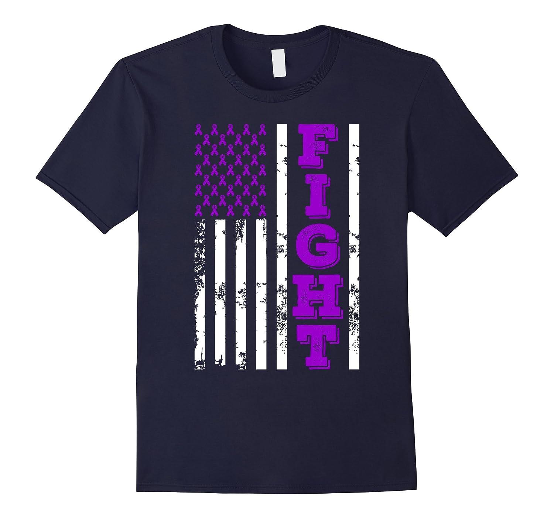 American Flag Fight Pancreatic Cancer Awareness T Shirt-CL