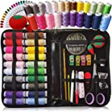 Artika Sewing Kit for Adults, Kids & Beginners w/Needles, Thimble, Knitting Tools & More - Craft Travel Supplies and Accessor