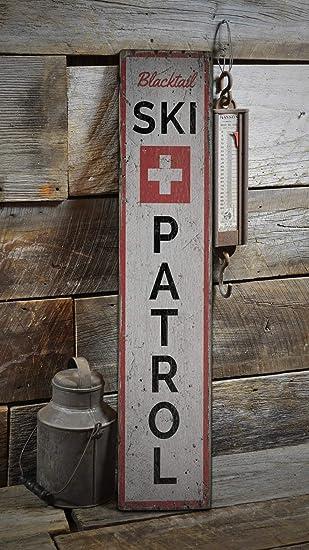 Burkeroan - Cartel de Madera con diseño de Patrulla de esquí ...