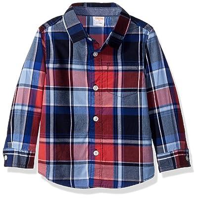 Gymboree Baby Toddler Boys' Long Sleeve Plaid Woven Shirt