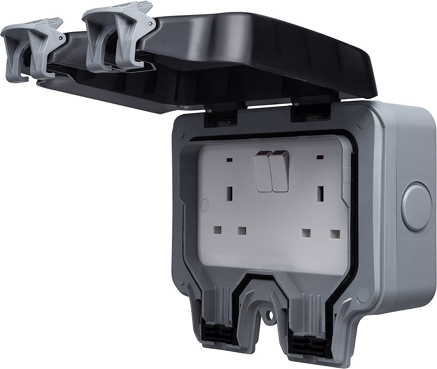 BG WP22 13 A 2-Gang Storm Weatherproof Outdoor Switched Socket Double Pôle