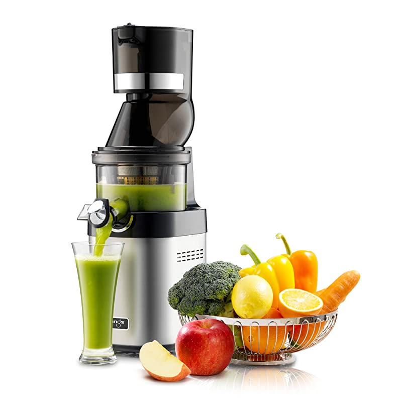 Best commercial juicer Kuvings CS600 Whole Slow Juicer with BPA-Free Components, 24 Hour Operation, Easy to Clean, Heavy Duty, Commercial Grade, Stainless Steel