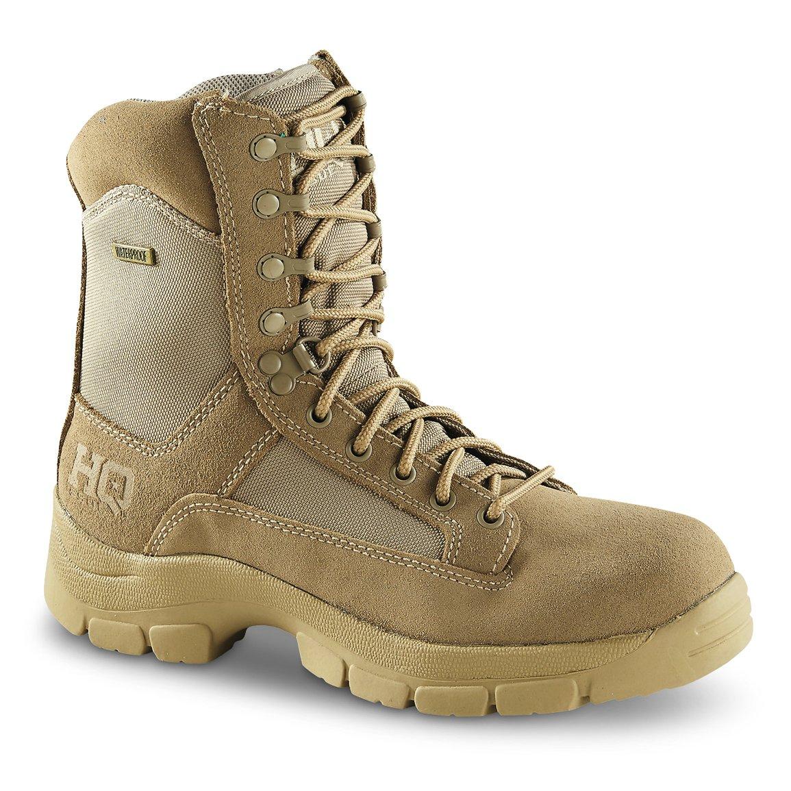 HQ ISSUE Men's Waterproof 8'' Side Zip Desert Boots