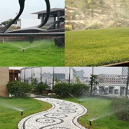 Asnomy aspersores de 10cm con Boquilla de latón, aspersor de riego para césped, Patio, jardín, macetas, Juego de 5 (4 Unidades de aspersores de 360 Grados + 1 aspersor de 180 Grados): Amazon.es: Jardín