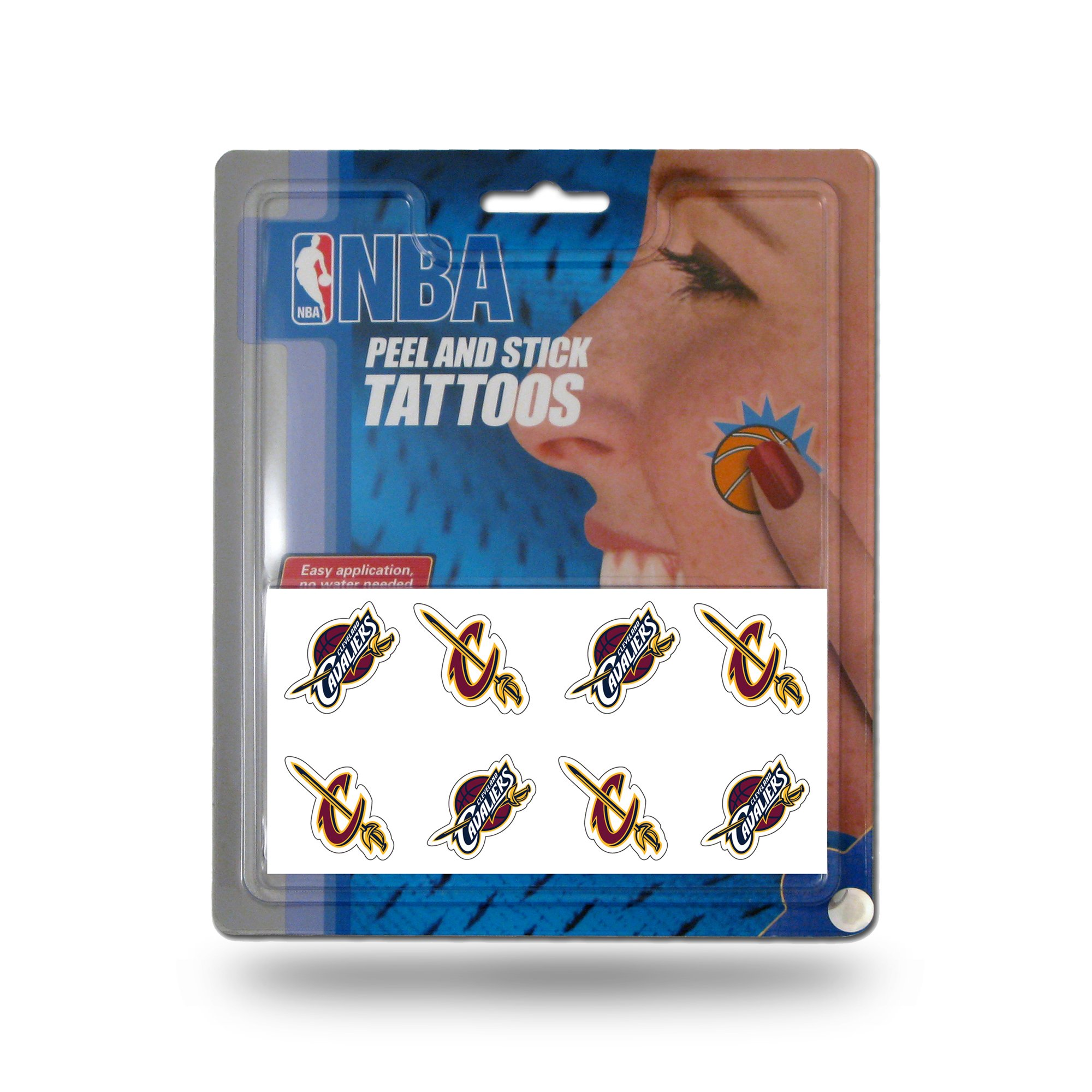 Rico Industries NBA Cleveland Cavaliers Face Tattoos, 8-Piece Set