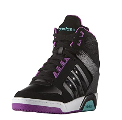 brand new ac062 83fc1 adidas Neo BB9TIS Wedge Women s Trainers Black  Amazon.co.uk  Shoes   Bags
