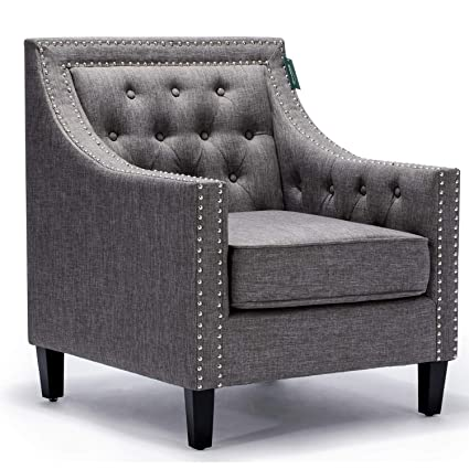 Amozon Accent Chairs.Accent Chair Morden Fort Sofa Chair For Living Room Bedroom Home Decoration Grey