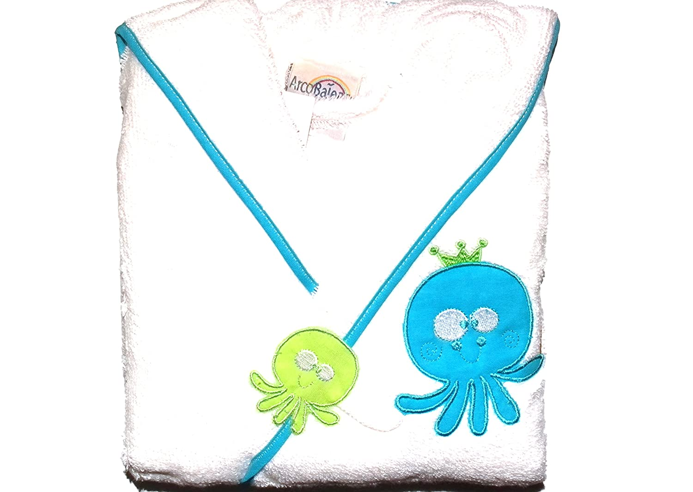 Albornoz bebe rizo serie Paul Con Pulpitos Azules Talla 1: Amazon.es: Hogar