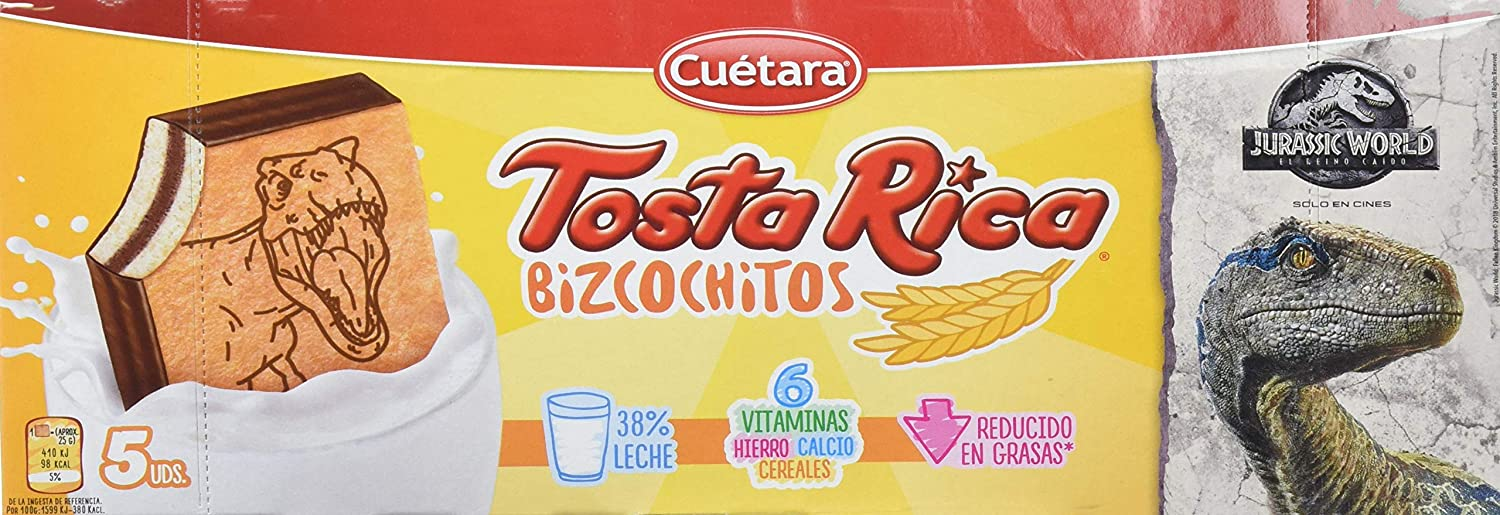Tosta Rica - Galletas Bizcochitos - 5 Galletas - 125 g: Amazon.es: Alimentación y bebidas
