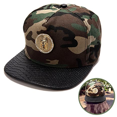 b4701f0ca15 Image Unavailable. Image not available for. Color  Haters Clothing  Accessories Adjustable Jesus Christ Cotton Camo Snapback Cap Hater Hat for  Men   Women