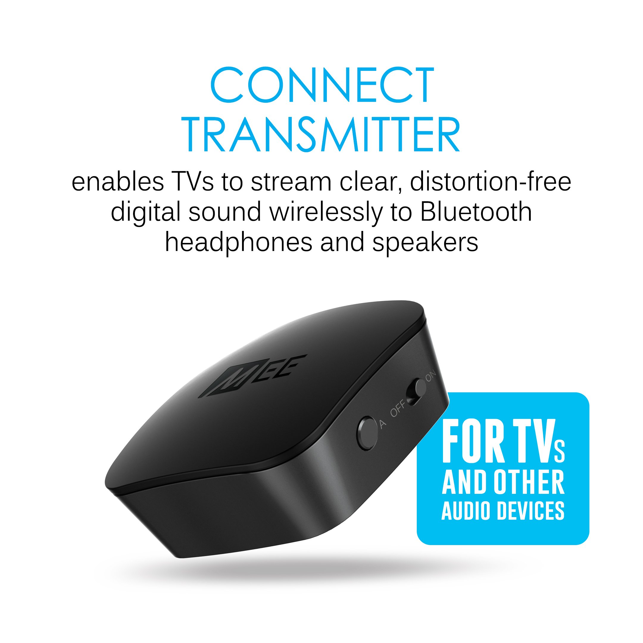 5d09f2b62fa MEE audio Connect T1N1 Bluetooth Wireless Headphone System for TV - Includes  Bluetooth Wireless audio Transmitter and Wireless Neckband In-Ear Headphones  ...