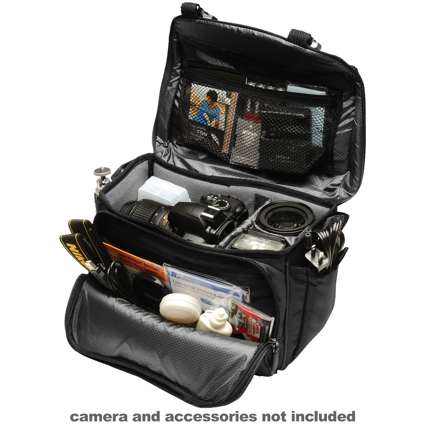 Camera Nikon Camera Bags amazon com nikon deluxe digital slr camera case gadget bag cleaning kit for d7000 d5100 d5000 d3200 d3100 d800 d90 d60 d