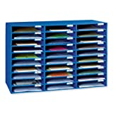 Classroom Keepers 30-Slot Mailbox, Blue
