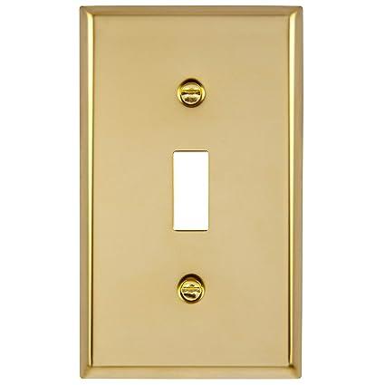 Amazon.com: ENERLITES Placa de interruptor de luz de metal ...