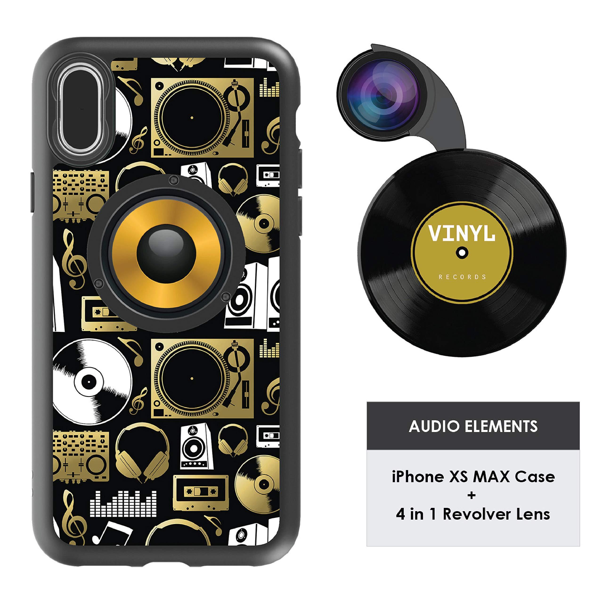 Funda y 4  Lentes Ztylus Revolver p/ iPhone Xs MAX - Audi...