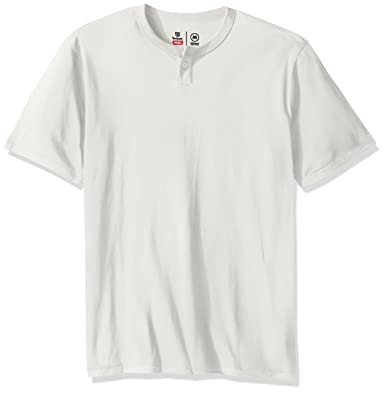 553027d60a63 Amazon.com: Brixton Men's Basic Tailored Fit Short Sleeve Henley Tee:  Clothing