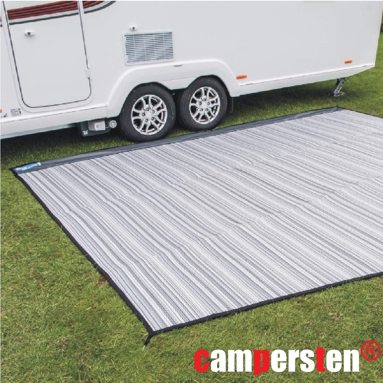 Perfekt f/ür Wohnmobile Camping Grau Verschiedene Gr/ö/ßen Wohnwagen und als Zeltunterlage campersten/® Vorzeltteppich