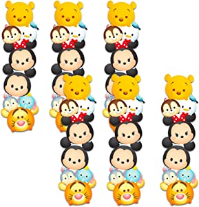 Disney Tsum Tsum Party Favors Set - Bundle Includes 6 Disney Bookmarks Featuring Mickey Mouse and Other Favorite Characters for Gifts, Party Supplies, Office Supplies (Licensed Memorabilia)