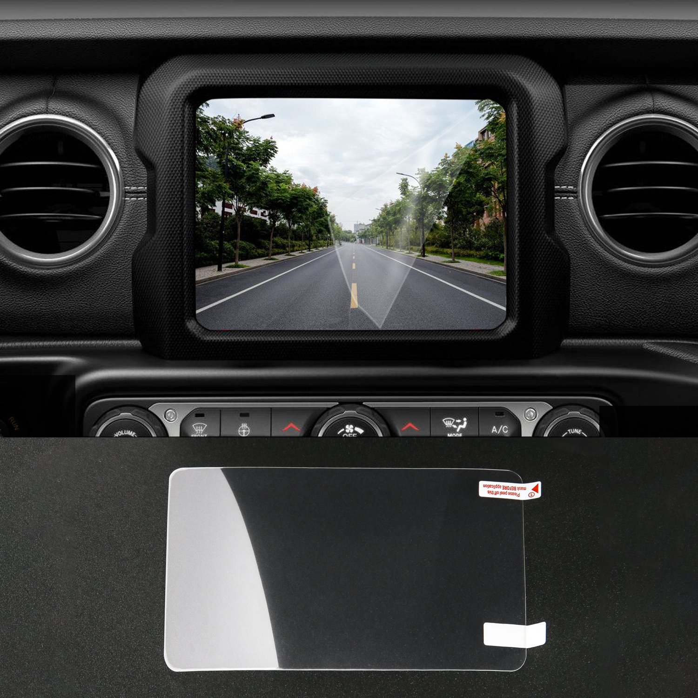 JeCar 2 PCS GPS Media Center Screen Protector for 2018 Jeep Wrangler (8.4 inch)