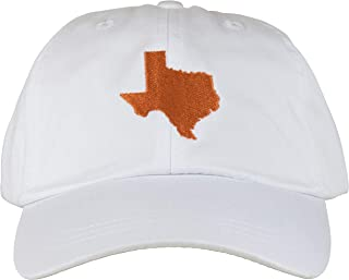 product image for Maine Made Belted Cow Texas State Design Baseball Hat for Men and Women White