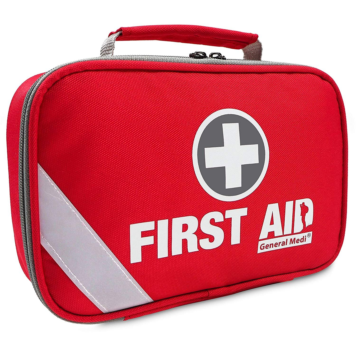 2-in-1 First Aid Kit (215 Piece) + Bonus 43 Piece Mini First Aid Kit - Includes Emergency Foil Blanket,CPR Face Mask,Scissors for Travel, Home, Office, Vehicle,Camping, Workplace & Outdoor (Red)