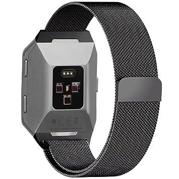 Fullmosa - Correa milanesa de repuesto para reloj inteligente Fitbit Ionic, de acero inoxidable, tamaño pequeño y grande, para hombres y mujeres: Amazon.es: ...