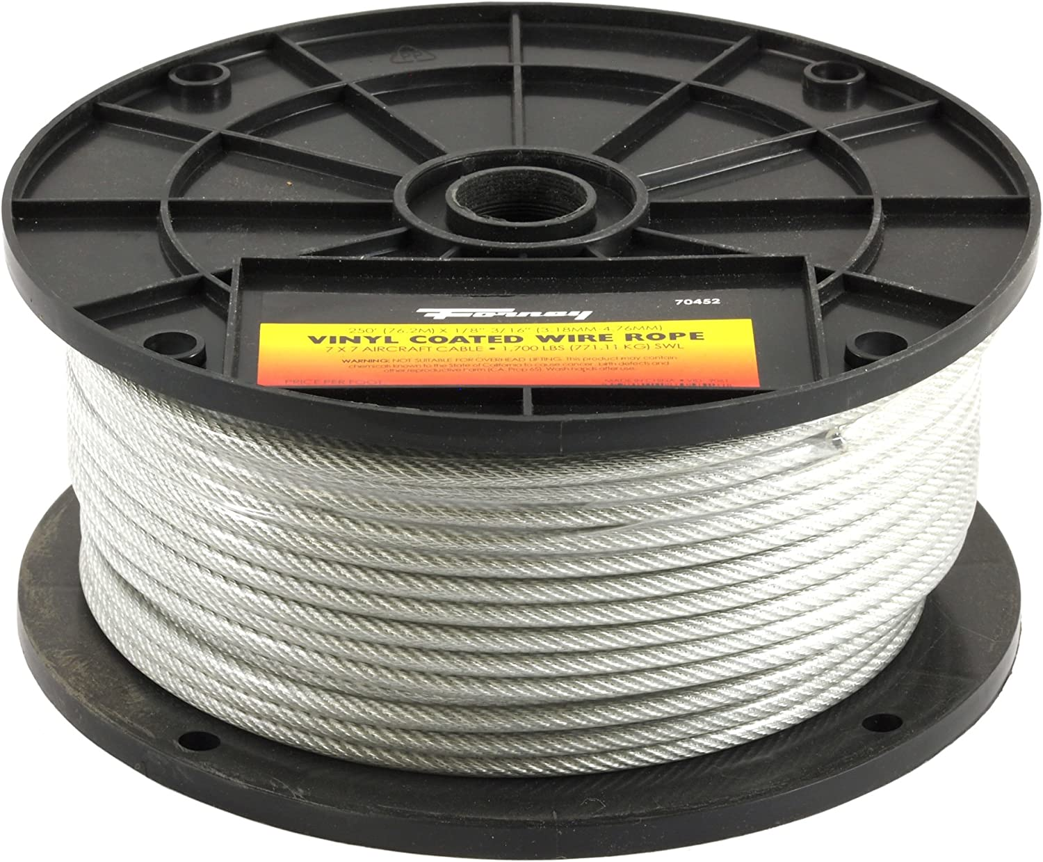 Cable Clips 500 1//8 7x7 Galvanized Aircraft Cable Wire Rope Includes 25 pcs