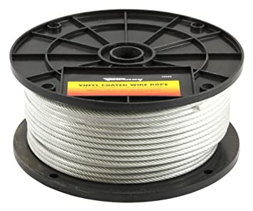 Amazon.com: Forney 70452 Wire Rope, Vinyl Coated Aircraft Cable ...