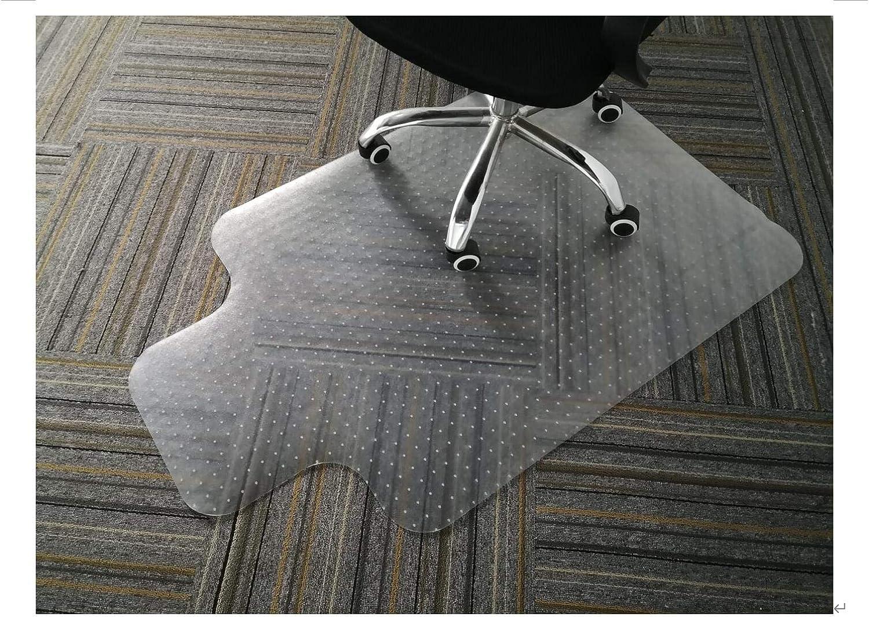GIOVARA tapete transparente para silla con borde para suelos de alfombra de pelo bajo, mediano, 90 x 120 cm, alta resistencia al impacto, material antideslizante, no reciclable