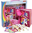 Jojo Siwa Reversible Sequin Unicorn Notebook Journal Set, Diary, Pen and Stickers Included, Coloring Activity Book for Drawing and Writing Kit for Girls and Kids