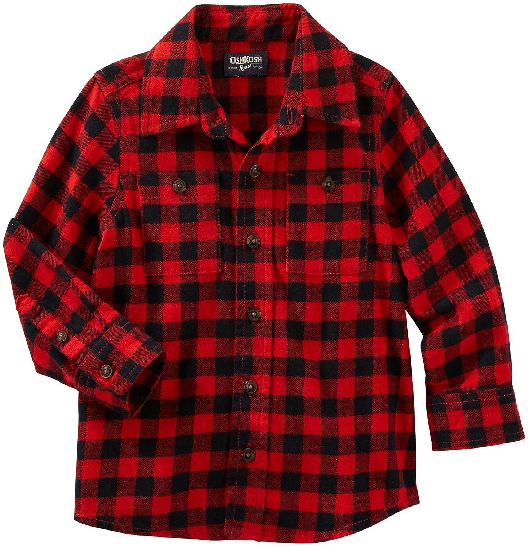 OshKosh Boys Woven Buttonfront 21506410 Plaid 5T OshKosh BGosh 21506410-Plaid-5T