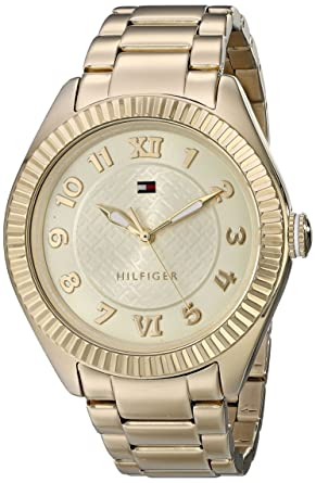 Tommy Hilfiger Womens 1781345 Casual Sport Gold-Plated Coin Edge Bezel Watch