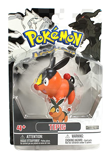 a397cd42 Image Unavailable. Image not available for. Color: Jakks Pacific Pokemon  Black and White Figure Single Pack Volume 1 - Tepig