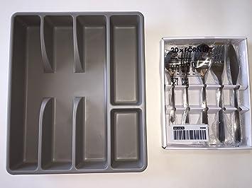 IKEA FORNUFT 20-pieces Juego de cubiertos con bandeja de Bono de acero: Amazon.es: Hogar