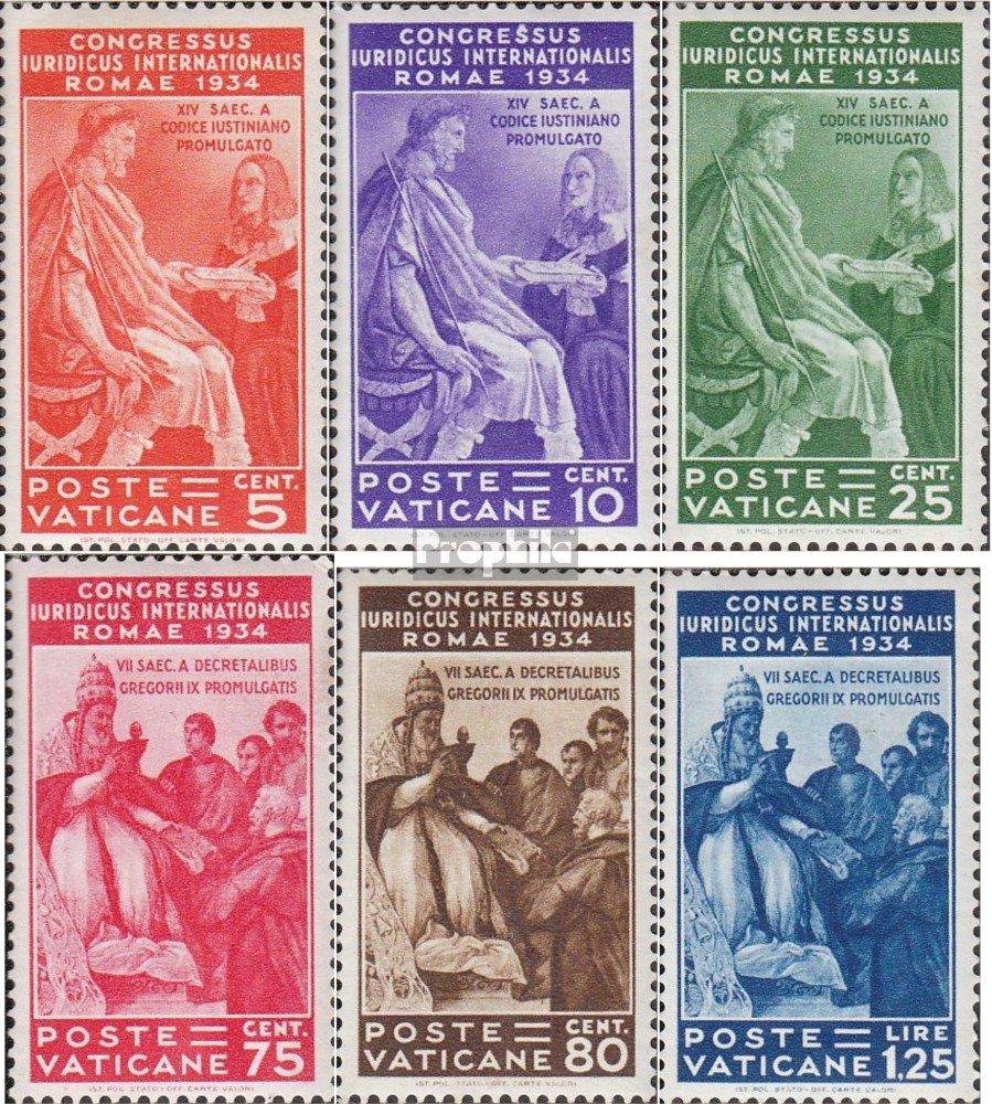 Prophila sellos para coleccionistas: ciudad del Vaticano 45-50 (completa.edición.) con charnela 1934 Conferencia de Abogados