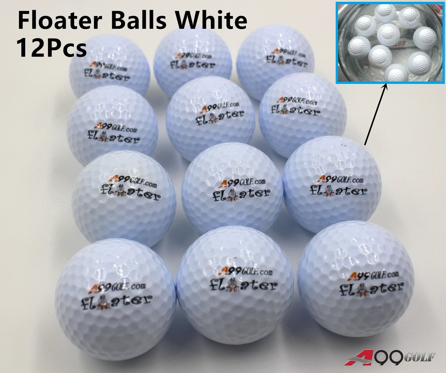 A99 Floating Golf Ball Floater Float Water Range 12pcs White New