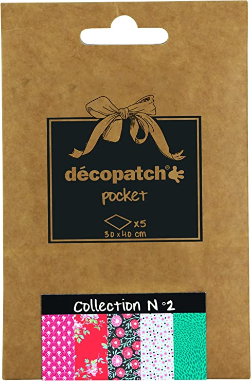 Pack of 3 sheets D/écopatch Flower Paper 30 x 40 cm Assorted colours