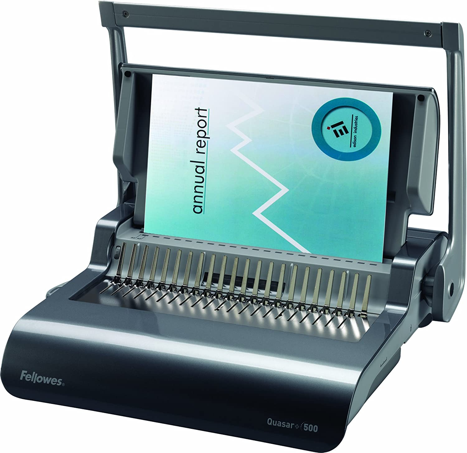 Fellowes Binding Machine Quasar+ Comb Binding (5227201), Metallic Blue : Office Products