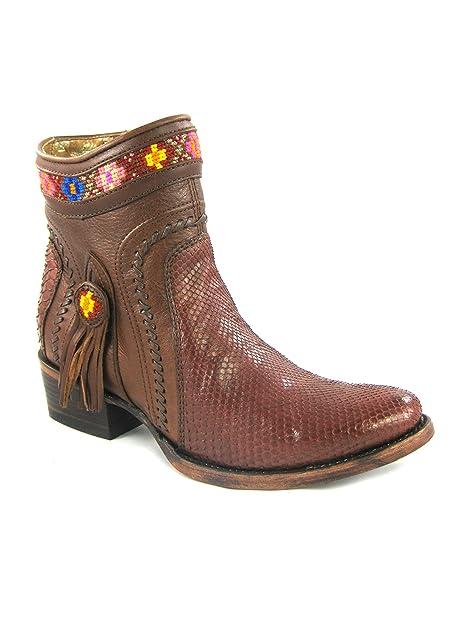 e82ddd4ed0 Botas Vaqueras de Dama en Piel de Pitón Cuadra: Amazon.es: Zapatos y  complementos