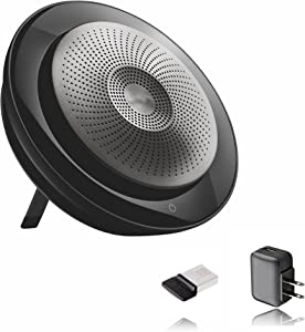 Jabra Speak 710 Bluetooth Speakerphone Jabra USB Dongle, AC Wall Charger - Pc, Mac, Tablet, Smartphone, Compatible with Voice, Video & Conferencing Apps - MS Teams, Skype (MS Bundle w/AC Charger)