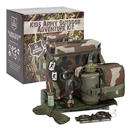 3d9ac0f3886 Buy KAS Kids Army Outdoor Adventure Kit - Camouflage Den Online at Low  Prices in India - Amazon.in