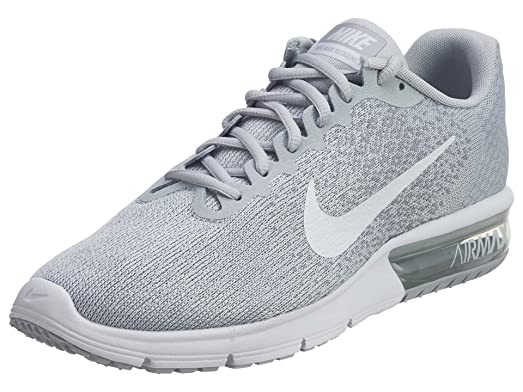 NIKE Men's Air Max Sequent 2, Pure Platinum/White-Wolf Grey, 10.5