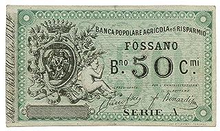 Cartamoneta.com 50 CENTESIMI Biglietto FIDUCIARIO Banca Popolare AGRICOLA FOSSANO - Cuneo