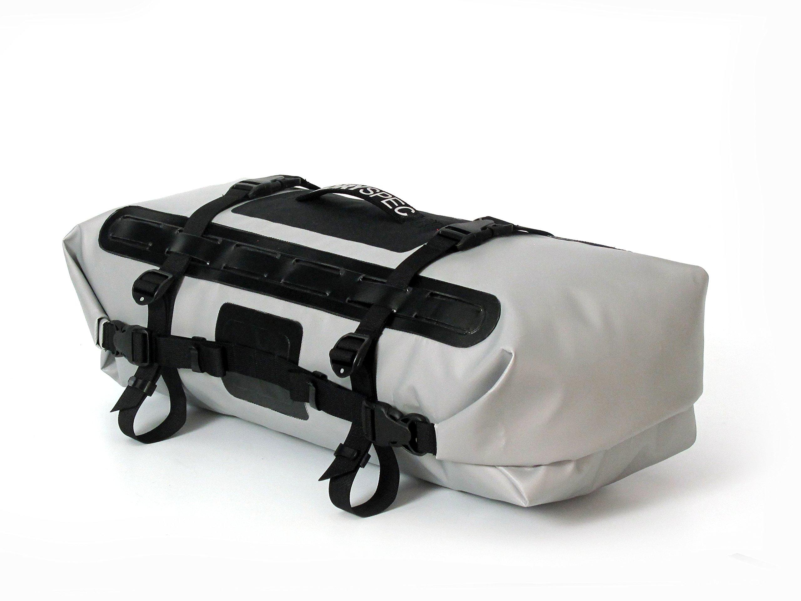 Dryspec 112505 D28 Grey Dual-End Waterproof Motorcycle Dry Bag - 28 L Capacity