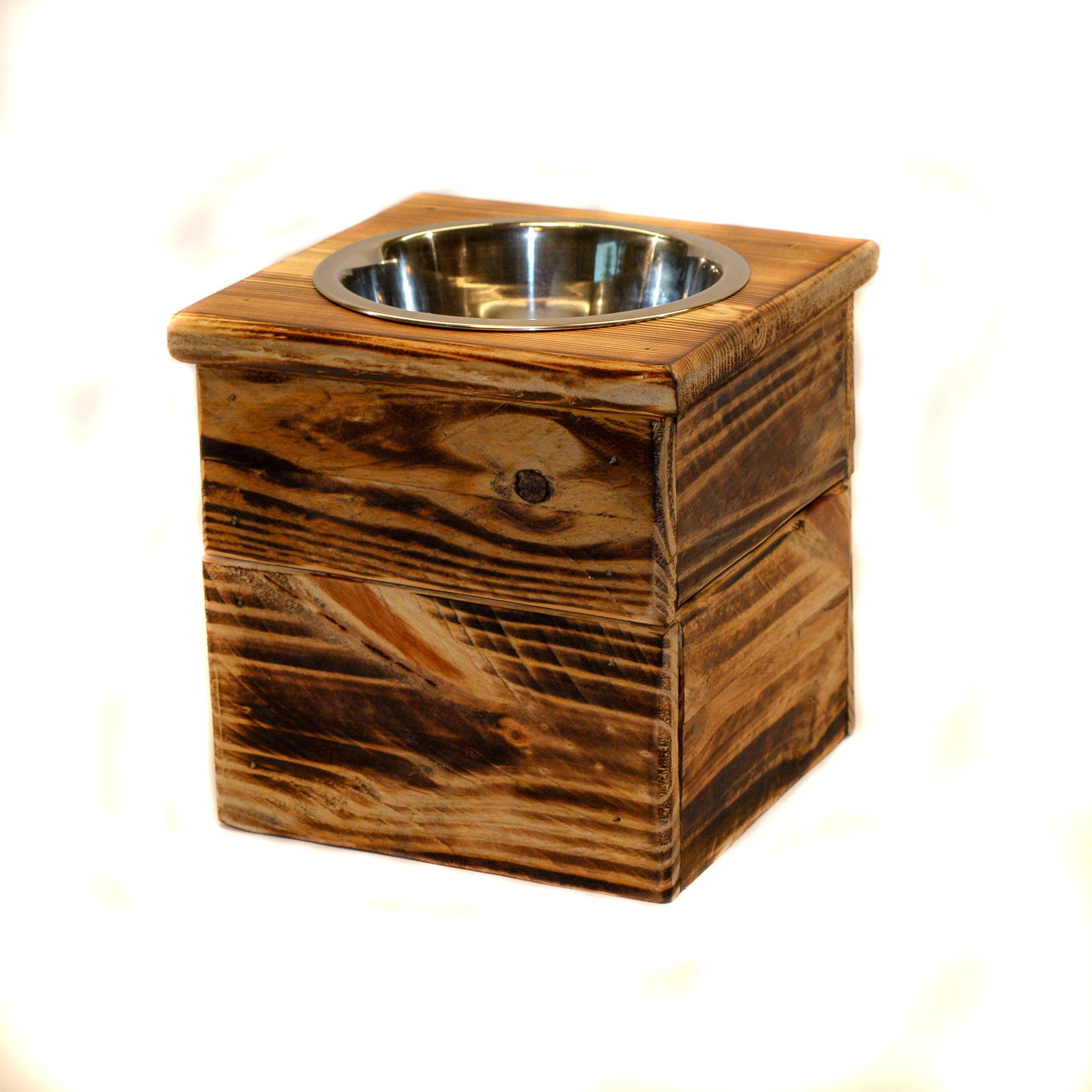 Double Medium Elevated Dog Dish // Medium 2 Bowl Feeding Stand // Dog Dish // Elevated Dog Bowl