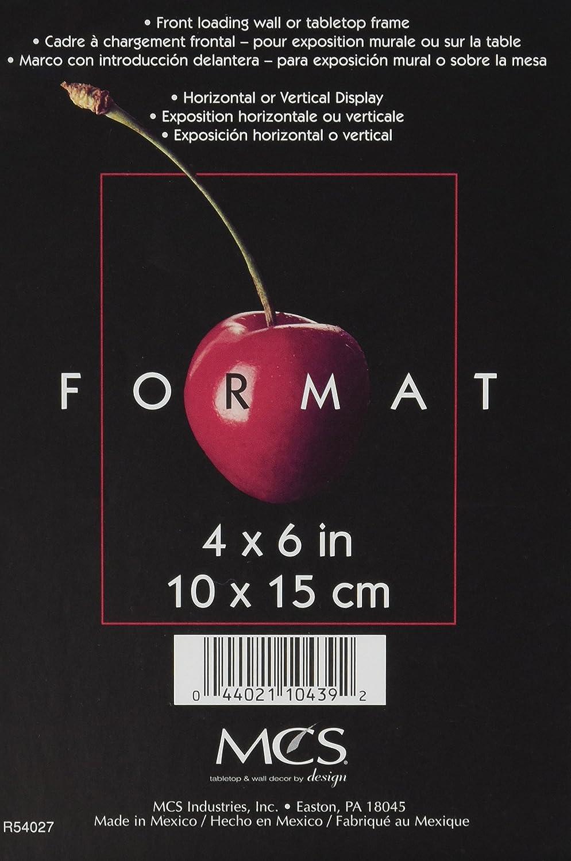 Amazon.com: MCS 4x6 Inch Format Frame, Black (10439): Home & Kitchen