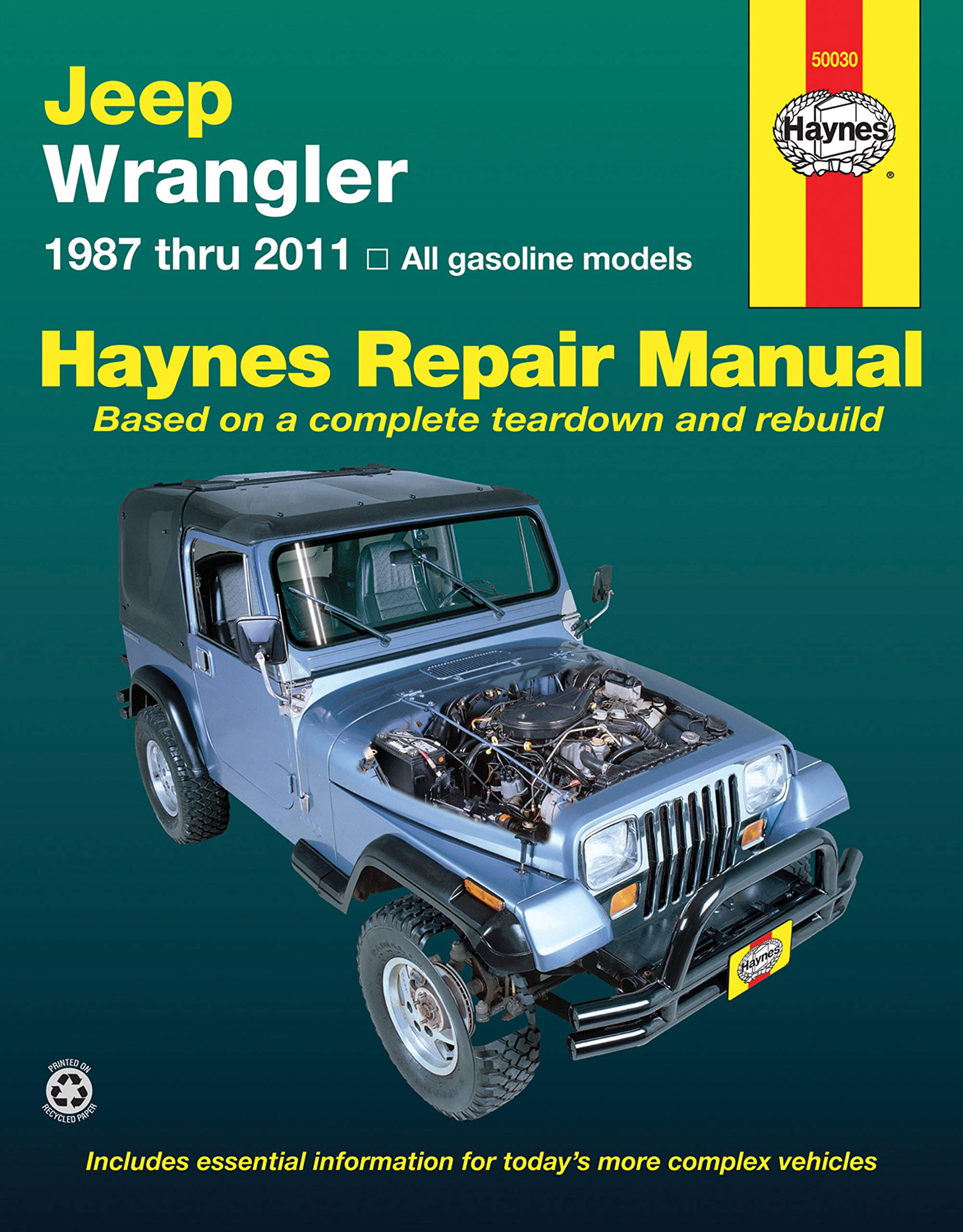 Haynes Jeep Wranglar 87 03 Manual 50030 Aa 0038345017773 2003 4 Liter Engine Diagram Books